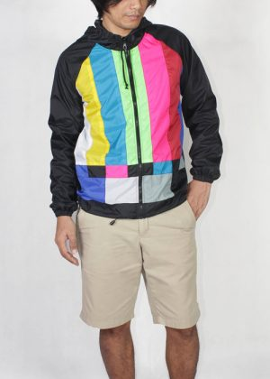Tv Color Bar Windbreaker Jacket Men Front