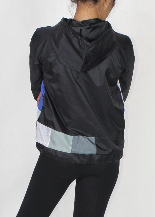 Tv Color Bar Windbreaker Jacket Women Back