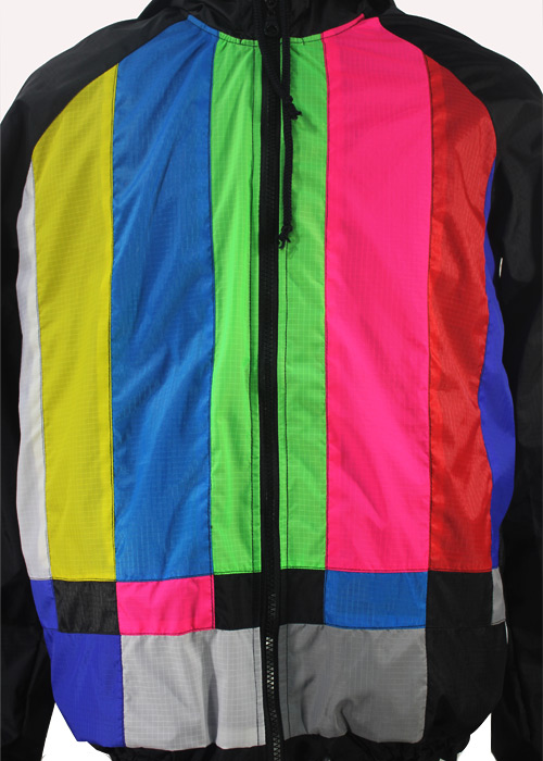 Tv Color Bar Windbreaker Jacket Front Zoom