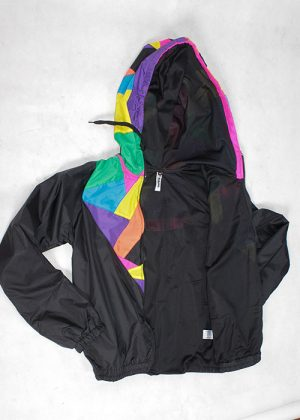 Patchwork Colorful Hood Windbreaker zoom