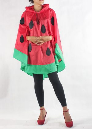 Watermelon Poncho Red Hand Hole