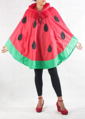 Watermelon Poncho Red Front