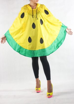 Watermelon Poncho Yellow