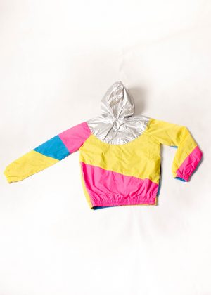 Yellow-Pink-Silver-Hood-Windbreaker-Back Zoom