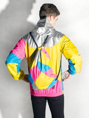 Yellow-Pink-Silver-Hood-Windbreaker-Men-Back