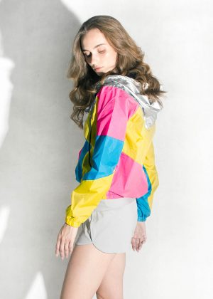 Yellow-Pink-Silver-Hood-Windbreaker-Side