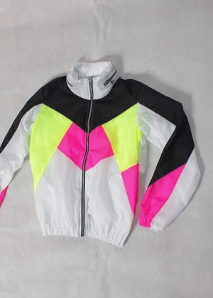 Black& White Neon Windbreaker zoom