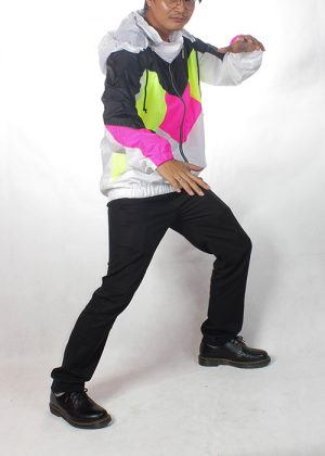 Black& White Neon Windbreaker Men