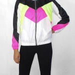 Black& White Neon Windbreaker Women