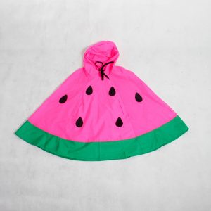 Kids watermelon rain poncho pink zoom