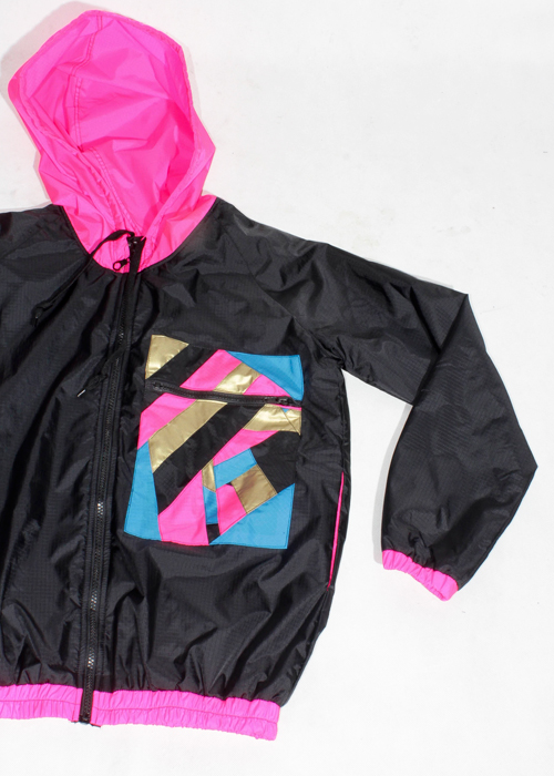 Pink Hood Windbreaker Jacket Zoom