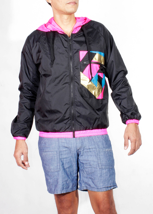 Pink Hood Windbreaker Jacket Men