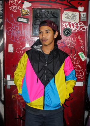 Yellow Pink Black Hood Windbreaker Men