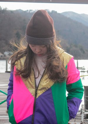 Purple Pink Green Windbreaker front