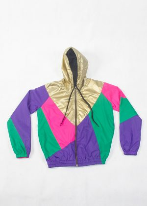 Purple Pink Green Windbreaker zoom1