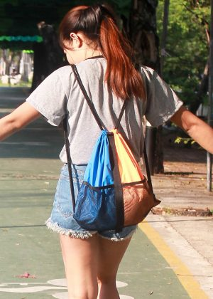 Drawstring Backpack orange