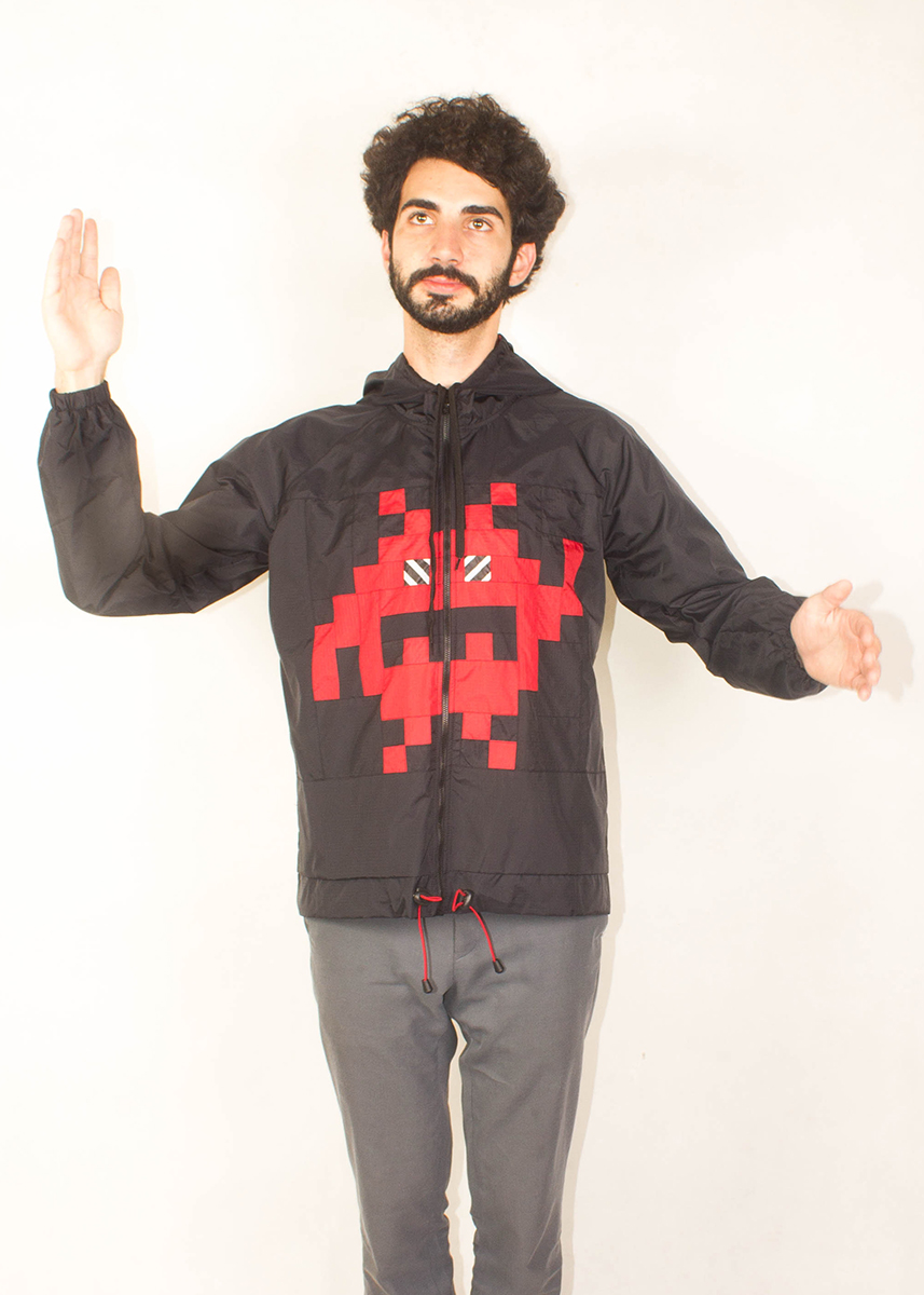 8Bit Monster Windbreaker Red