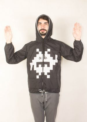 8Bit Monster Windbreaker White