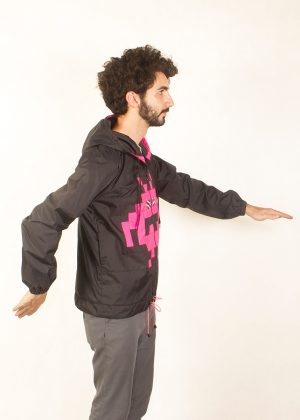 8Bit Monster Windbreaker Pink Side