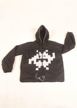 8Bit Monster Windbreaker White Zoom