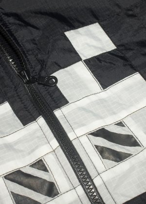 8Bit Monster Windbreaker White detail Zoom