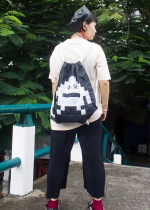 Pixel Monster Backpack Black&White