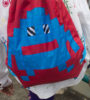 Pixel Monster Backpack Red&Blue 2