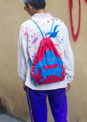 Pixel Monster Backpack Red&Blue 1