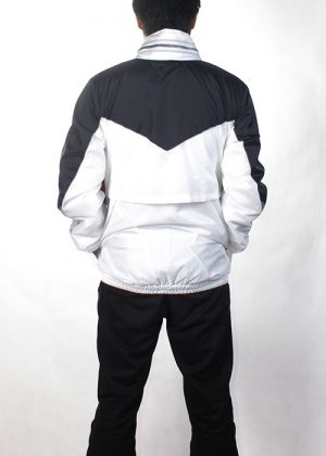 Black& White gold silver Windbreaker back