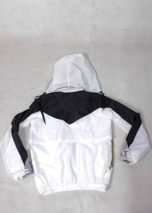 Black& White gold silver Windbreaker b