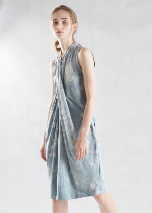 Drape Denim Wash Dress side1