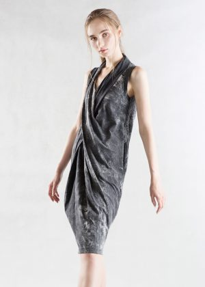 Drape Bleach Wash Dress black ff
