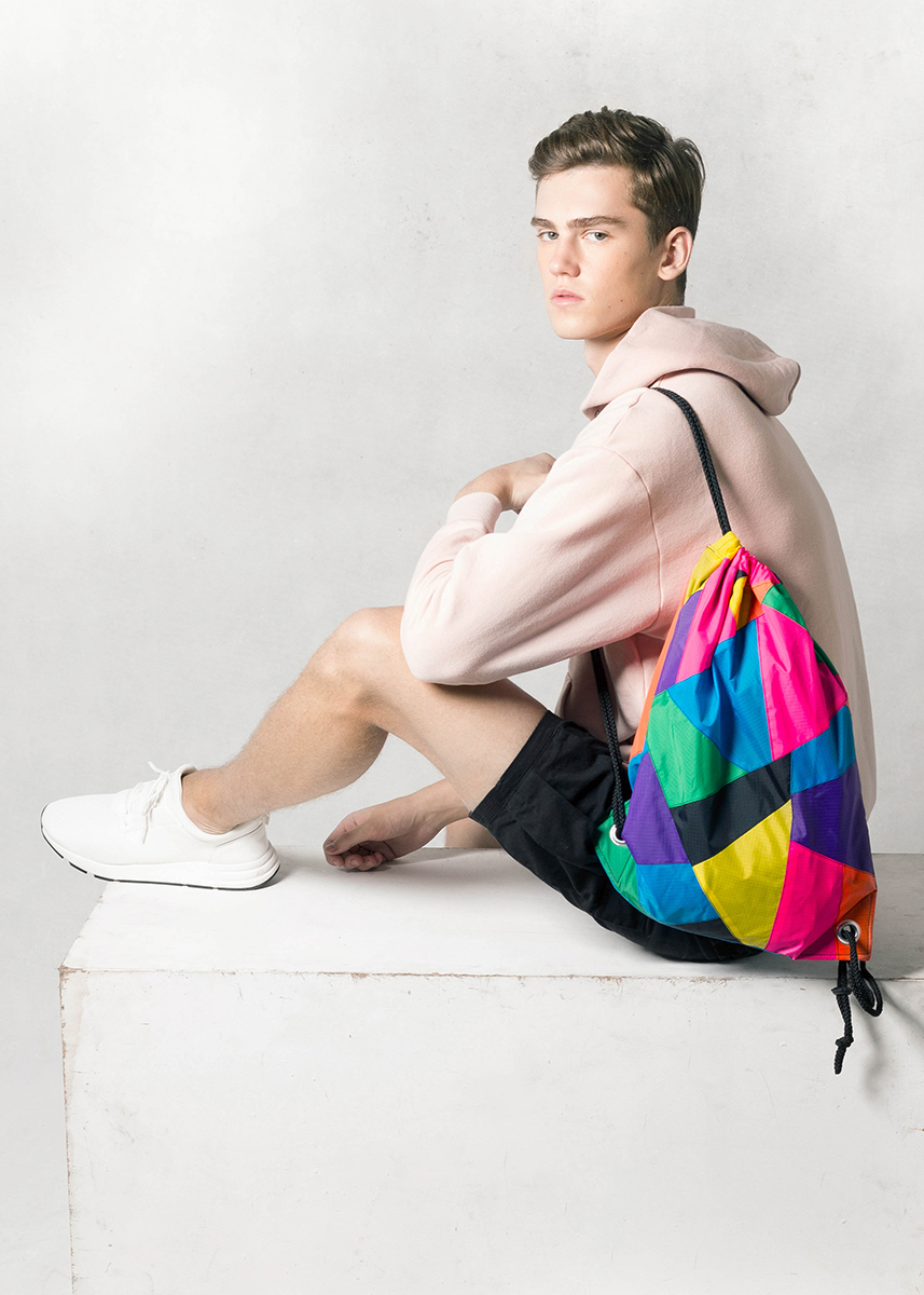 Patchwork Colorful Drawstring Backpack