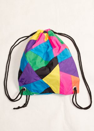 Patchwork Colorful Drawstring Backpack Front