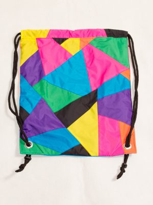 Patchwork Colorful Drawstring Backpack Front Zoom