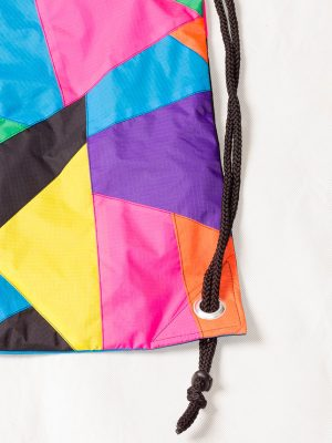 Patchwork Colorful Drawstring Backpack Zoom