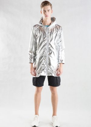 Sliver Metallic Light Jacket Men