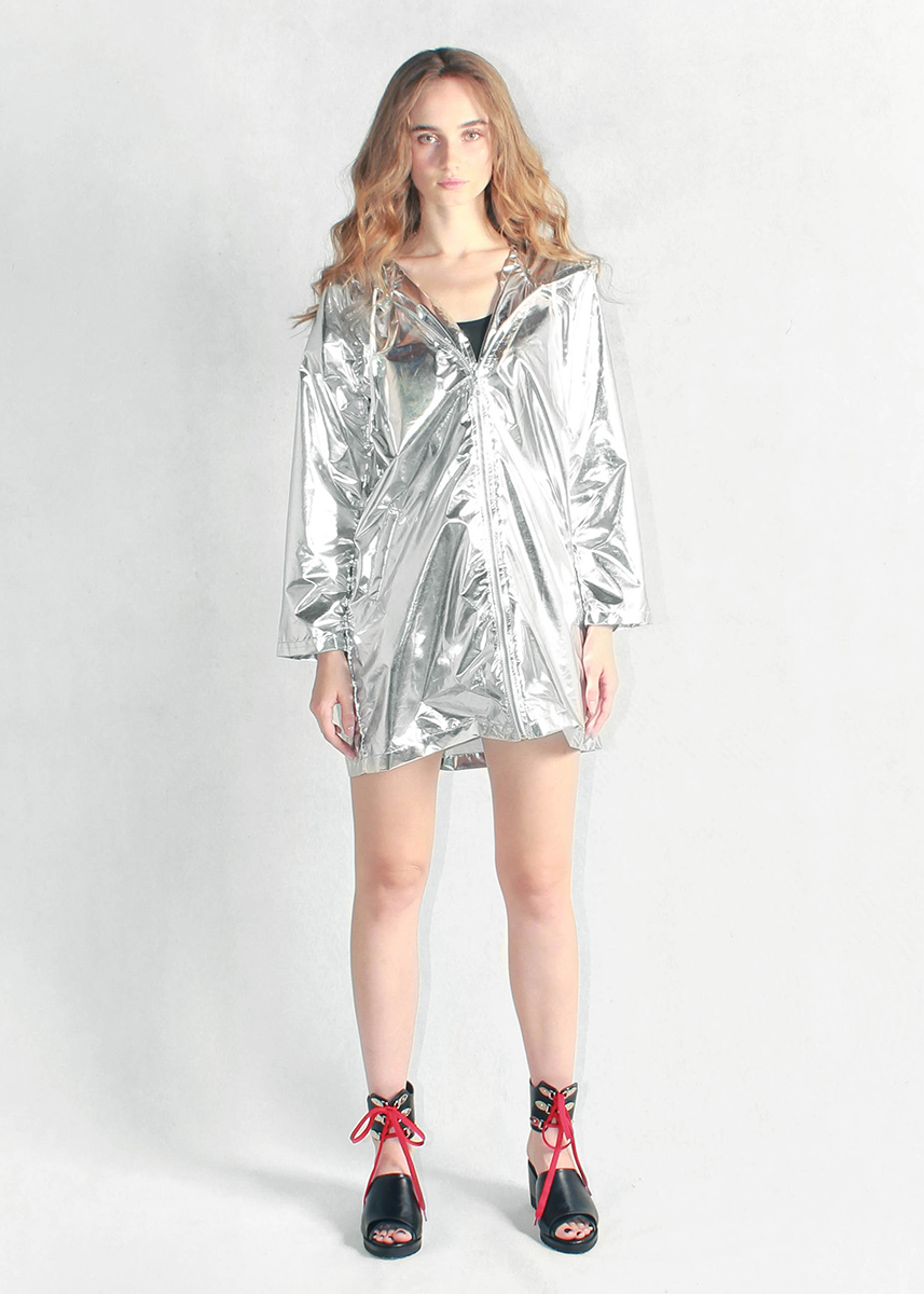 Sliver Metallic Light Jacket Women