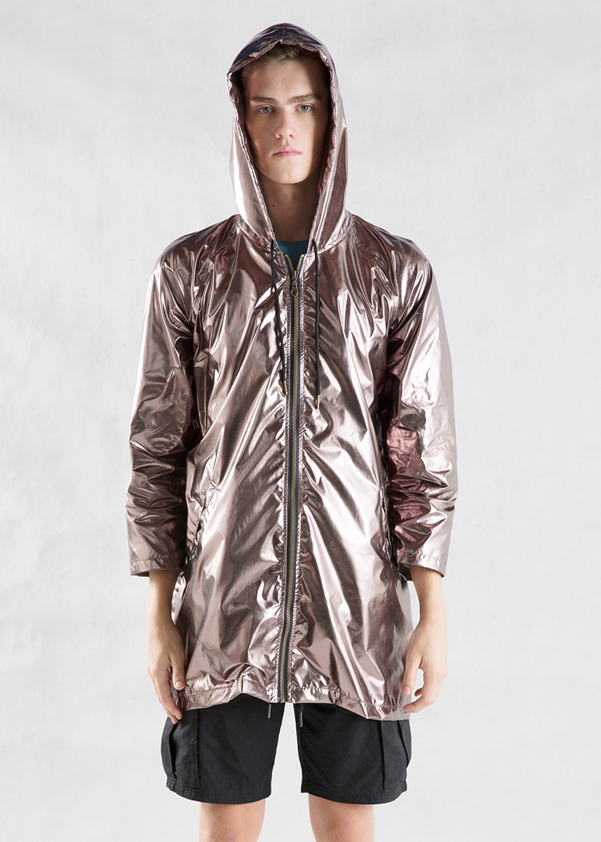 Bronze Metallic Light Jacket Men