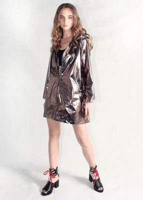 Bronze Metallic Light Jacket Women