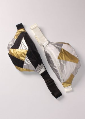 Gold and Silver Patchwork Fanny Pack