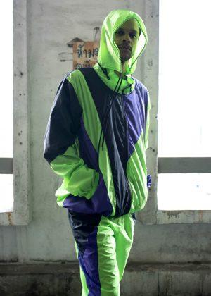Neon Green Windbreaker Tracksuit 1