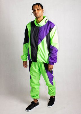 Neon Green Windbreaker Tracksuit 1