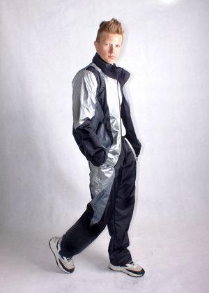 Silver and Black Windbreaker Tracksuit4
