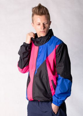 Pink Blue Windbreaker Jacket 1