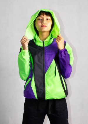 Neon Green Windbreaker Jacket 1