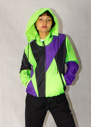 Neon Green Windbreaker Jacket 2