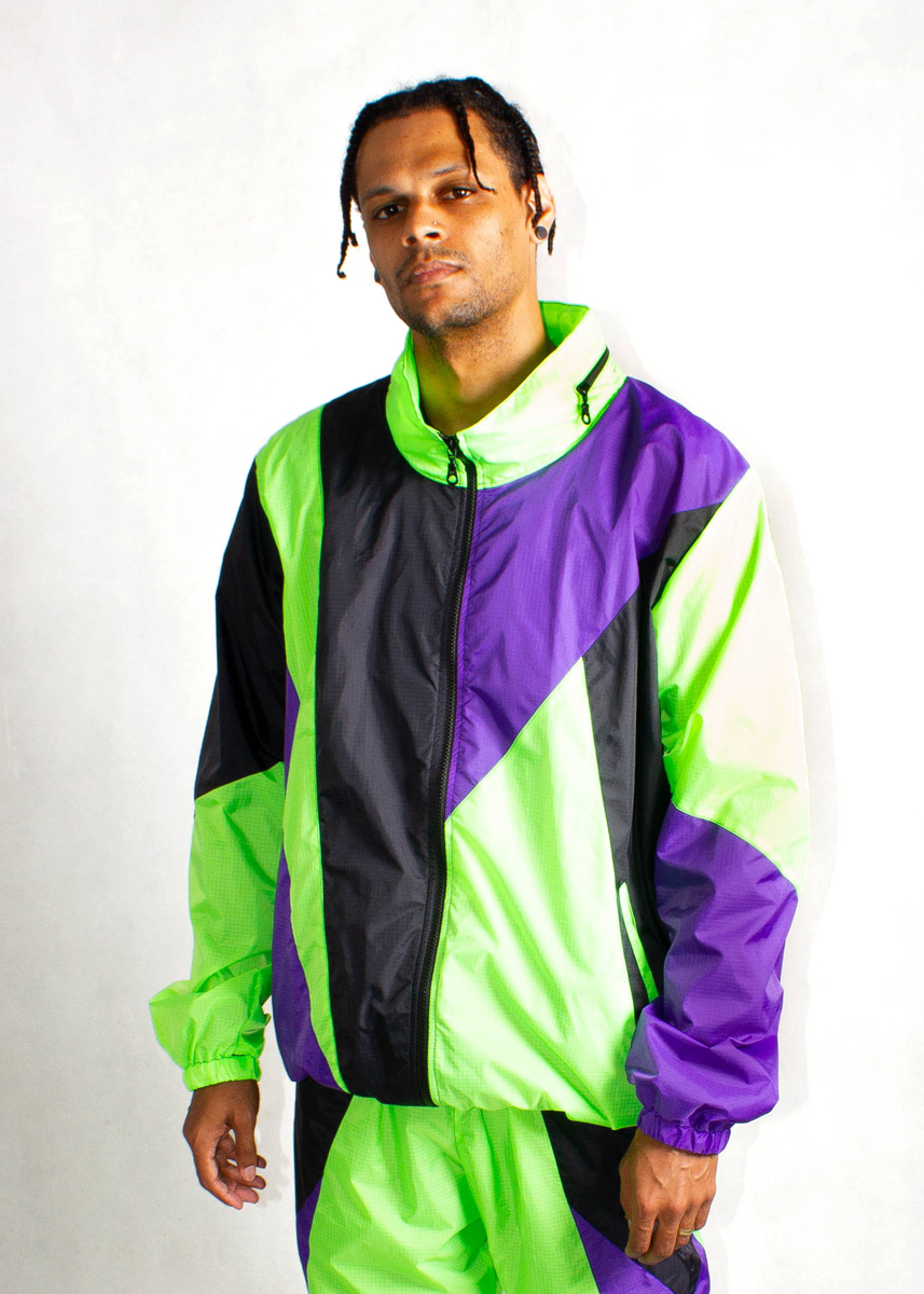 Neon Green Windbreaker Jacket