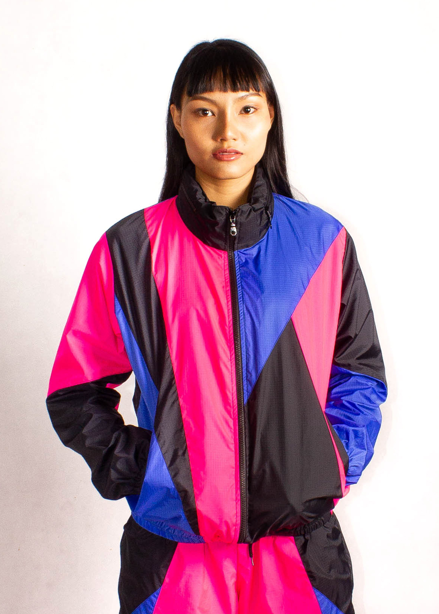 Pink Blue Windbreaker Jacket