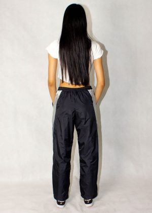 Black Gray and Silver Windbreaker Track Pants 4